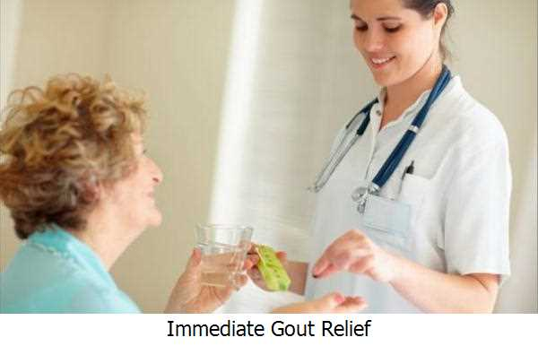 Immediate Gout Relief